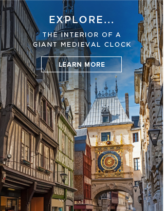 Explore... The interior of a giant medieval clock - Learn More!