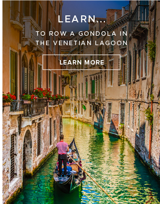 Learn... To row a gondola in the Venetian lagoon - Learn More!