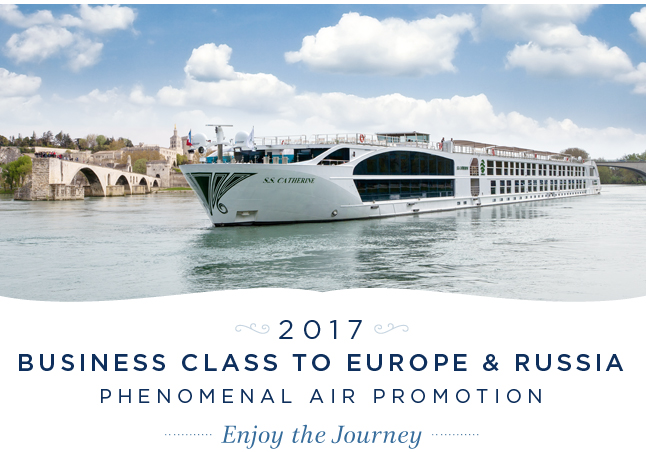 2017 Business                                                      Class to Europe                                                      & Russia - Enjoy                                                      the Journey!