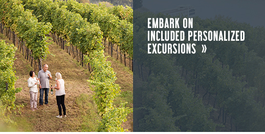 Embark on included personalized excursions